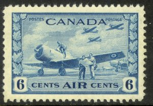 CANADA 1942 6c AIRPLANE AND STUDENTS AIRMAIL Sc C7 MH