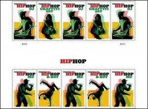 US 5480-5483 5483a Hip Hop forever header gutter block (10 stamps) MNH 2020 7/15
