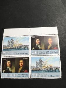 Ireland #835a Mint Block of Four VF-NH 2015 Sc. Cat 6.60 1991 Wars Issue