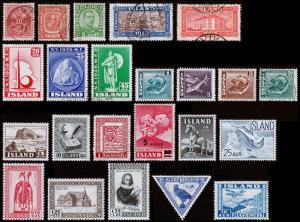 Iceland Scott 26 // C15 (1897-1936) Mint/Used H F-VF, CV $77.65 B