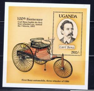 Uganda 1213 NH 1994 First Benz Auto Souvenir Sheet
