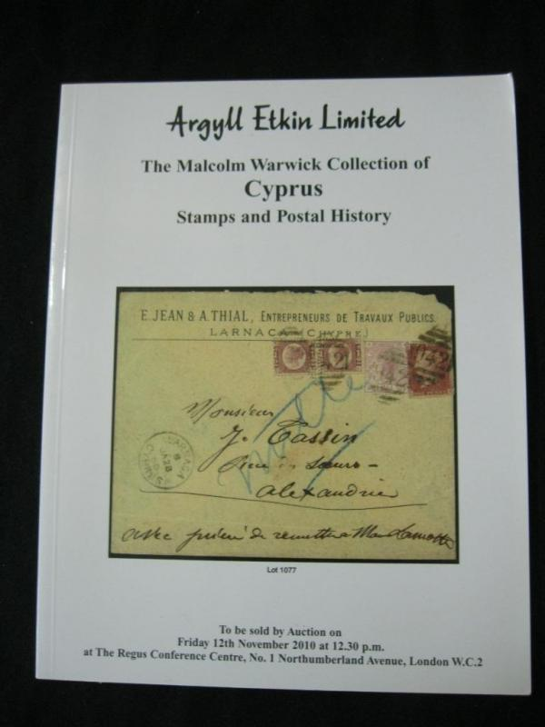 ARGYLL ETKIN AUCTION CATALOGUE 2010 CYPRUS THE 'MALCOLM WARWICK' COLLECTION