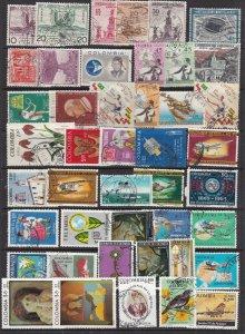 COLOMBIA  ^^^^^^BOB  x 45  diff  used   AIRPOSTS    collection $$ @ha1817colo17