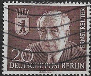 1954 Berlin 9N104 Prof. Ernst Reuter/Mayor of Berlin used