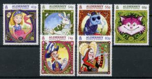Alderney 2015 MNH Alice Adventures in Wonderland 150th Anniv 6v Set Stamps