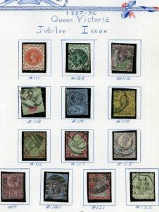 GB Sc 111-122 Used Set in mounts on WhiteAce BritEmp quadrille pages