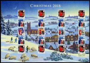 HERRICKSTAMP GREAT BRITAIN Sc.# 3800B Christmas 2018 Smiler Sheet