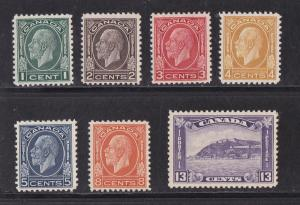Canada # 195-201, Mint  Hinged Complete Set