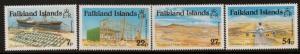 FALKLAND ISLANDS SG501/4 1985 MOUNT PLEASANT AIRPORT MNH