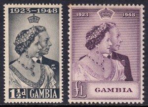 Gambia - Scott #146-147 - MH - Toning UL corner #147 - SCV $20.25