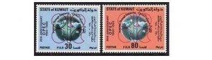 Kuwait 830-831,MNH.Michel 872-873. OPEC-20,1980.Globe.