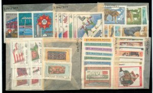 Hungary 1979/81 Wildlife Sport Flags MNH (Appx 35)NT 3471s