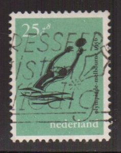 Netherlands   #B300  used 1956  olympic games melbourne 25c