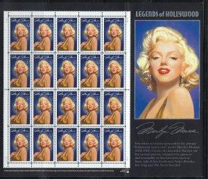 US Scott 2967 Sheet of 20 Marilyn Monroe! MNH!