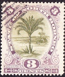 NORTH BORNEO 1894 3 Cents Olive-Green and Violet SG71 FU Cancelled