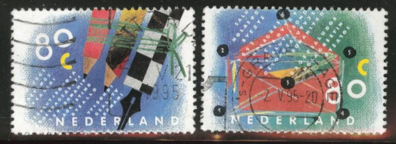 Netherlands Scott 844-845 Used 1993 stamps