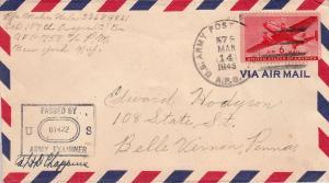 United States A.P.O.'s 6c Transport 1945 U.S. Army Postal Service, A.P.O. 578...