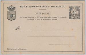 Congo Belge / Belgian Congo  POSTAL STATIONERY CARD:  Higgings & Gage #4