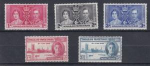 SOMALILAND PROT  1937 - 46  CORONATION & VICTORY SETS   M H