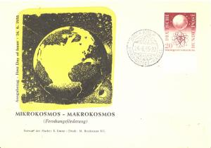 Germany  First Day letter  Mikrokosmos  1955   VF