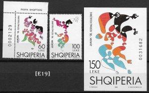 [E19] Albania 1998, Europa,Folk Festivals, MiNr.2548-49, Bl. 112, G.Nr. 28001-02