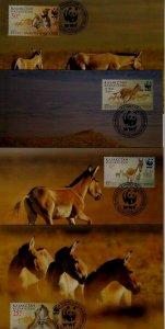 Kazakhstan 344-47 maximum cards WWF-01/Kulan