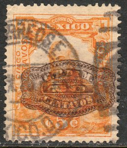 MEXICO 579 20cents ON 5cent BARRIL SURCHARGE USED. F-VF. (248)