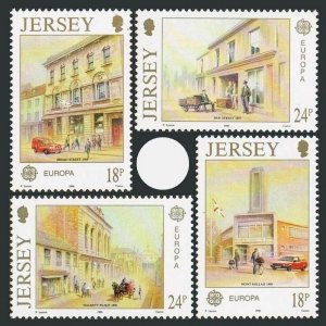 Jersey 532-535,MNH.Michel 508-511. EUROPE CEPT-1990.Post Offices.
