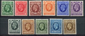 Great Britain - Scott #210-220 1934-36 KGV Photogravure set of 11 values - MNH