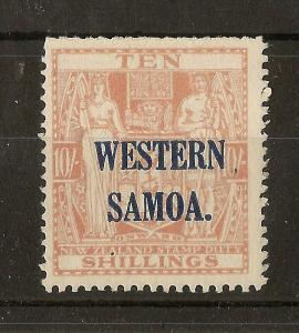 Samoa 1935 10/- Postal Fiscal Mint