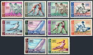 Ajman MNH 27-37 Tokyo Olympics 1964 SCV 7.10