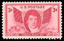 962 Francis Scott Key F-VF MNH single