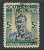 Southern Rhodesia SG 52  SC# 54  5/- value  Used  spacefiller see details