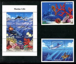 Antigua 1806-1808 MNH Marine Life Fish Corals 1994. x29328
