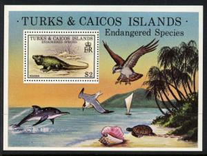 Turks & Caicos Islands 385 MNH Iguana, Dolphin, Birds, Turtle