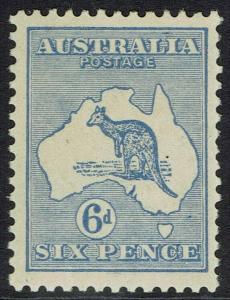 AUSTRALIA 1915 KANGAROO 6D 2ND WMK