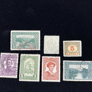Early Bosnia Used Stamp Lot- Interesting Cancellations #0115