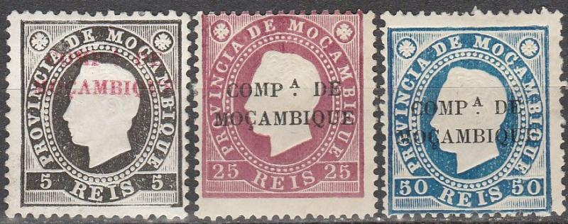 Mozambique Company #1, 4, 6   F-VF Unused  CV $9.00 (A15038)