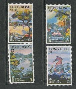 Hong Kong 1980 Parks UM/MNH SG 391/4