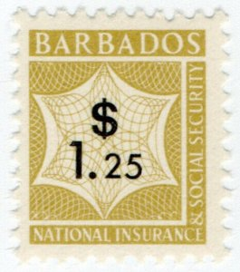 (I.B) Barbados Revenue : National Insurance & Social Security $1.25 (unlisted)