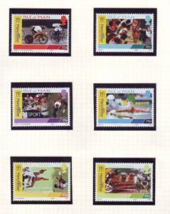 Isle of Man Sc 942-7 2002 Commonwealth Games stamps mint NH