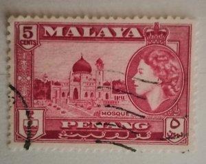 Malaya Penang 1957 Queen Elizabeth II & Local Motives Mosque used