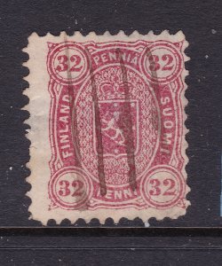 Finland the scarce 32p red from 1875 used