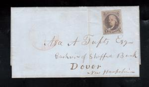 USA #1 Very Fine Used On Cover To Dover New Hampshire