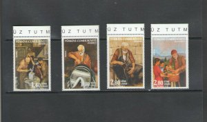 TURKEY:+BUY NOW+ Sc 3457-60 / **OCCUPATIONS OF THE PAST ** / SET OF 4  / MNH.