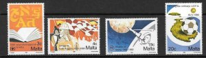 MALTA SG866/9 1990 ANNIVERSARIES & EVENTS MNH