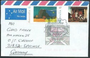 AUSTRALIA 1995 cover to Germany - nice franking - Sydney Pictorial pmk.....14704