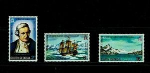 South Georgia: 1975, Bicentenary of Possession by Captain Cook  MNH set