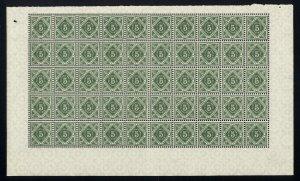 w7 Wurttemberg Scott #O15 5pf green Mint OG NH full pane of 50. Scarce!