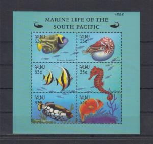 PALAU SHEET MARINE LIFE OF SOUTH PACIFIC FISHES SEAHORSES